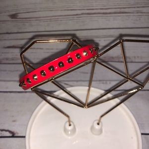 Red Studded Enamel Bracelet